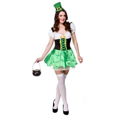 Ladies Cheeky Leprechaun Costume for Sexy Fancy Dress Womens
